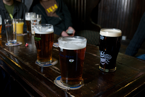 Pints of beer by Flickr user spli