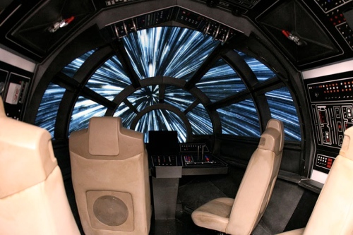 The Millenium Falcon - a four minute flight to the edge of the universe and back.
