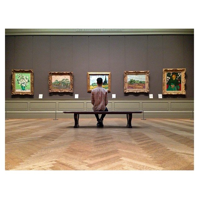 Dave Krugman at the Met, photo by Instagram user @danielkriger