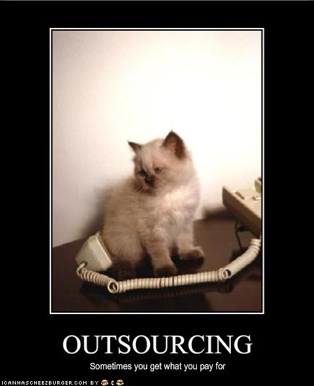 Outsourcing  CC BY-ND 2.0 image by Flickr user icanhascheezburger