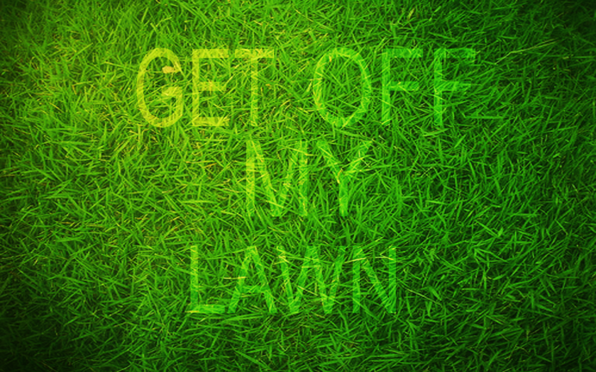 Get Off My Lawn by Deviantart user Karkan