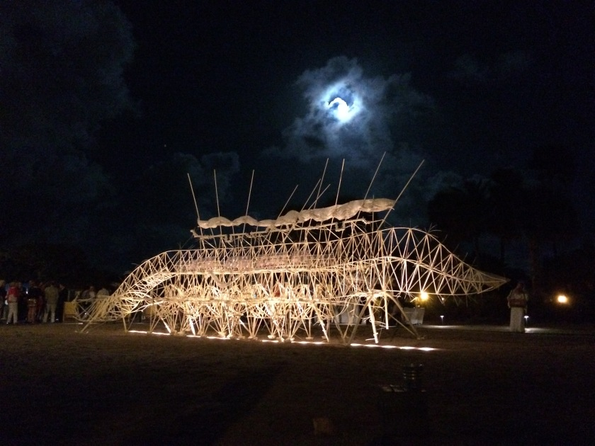 Strandbeest at night