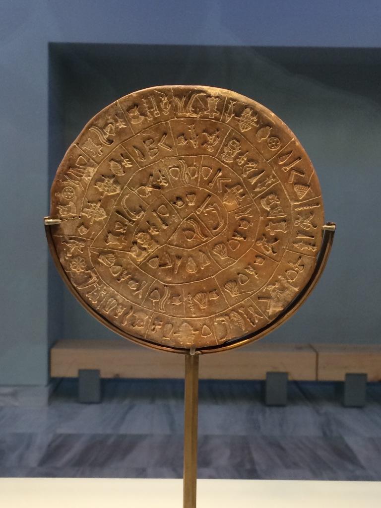 Oh, hello, Phaistos disk!