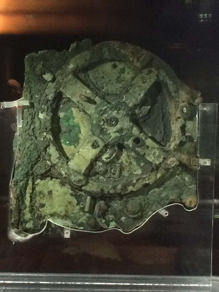 The Antikythera mechanism! The actual Antikythera mechanism!