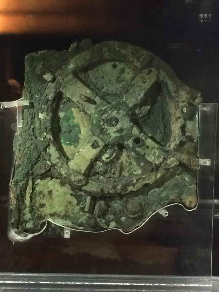 The Antikythera mechanism! The actual Antikythera mechanism!